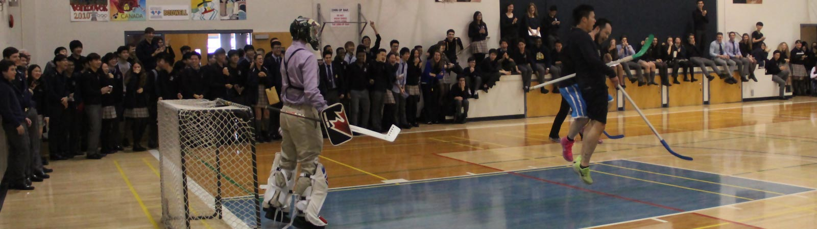RCMP Floor Hockey Game Versus Bodwell Staff