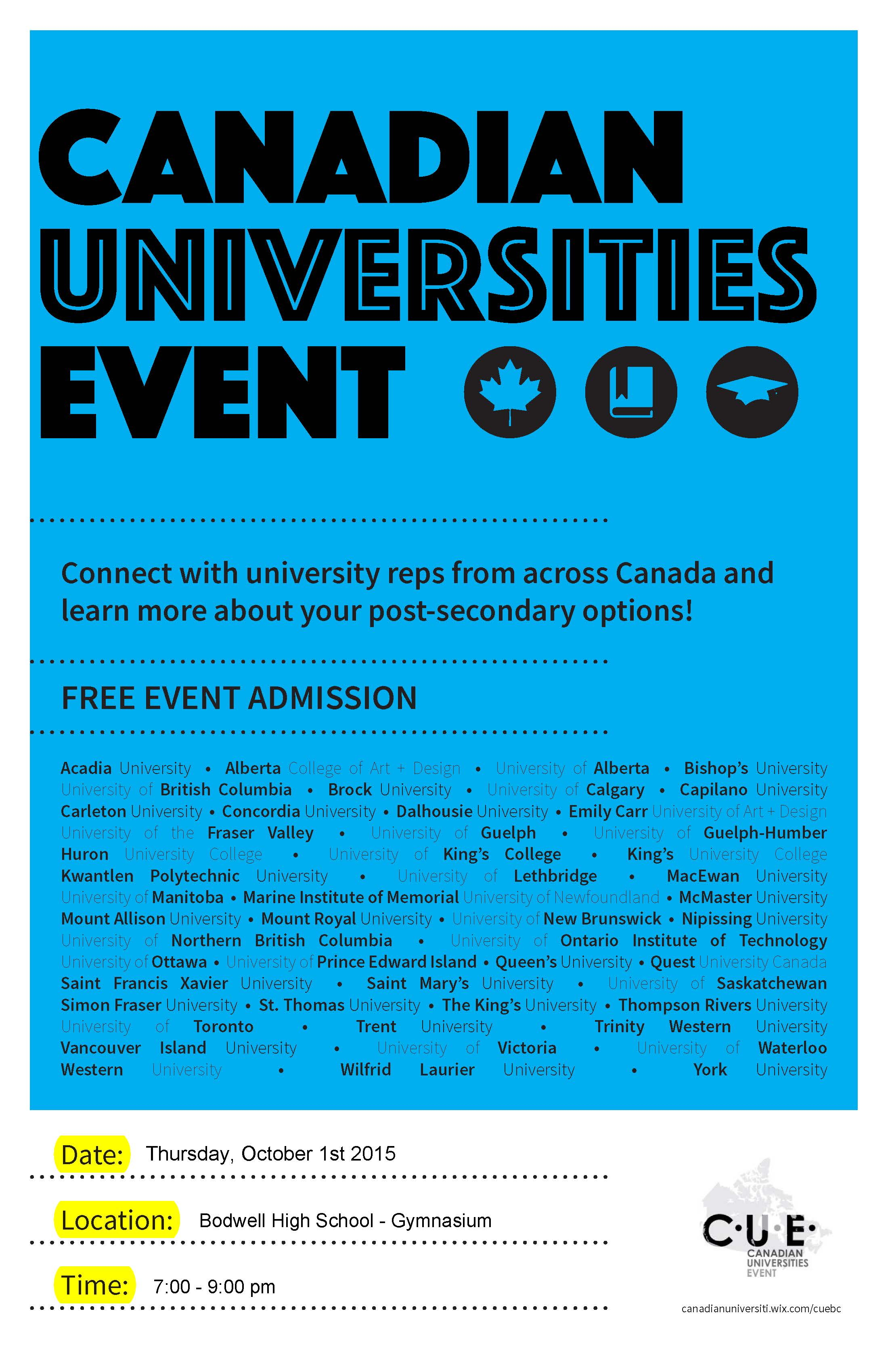 Canadian Universities Event