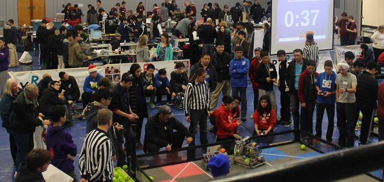 Robotics Team Competes at British Columbia December Qualifier – VEX-U Skills