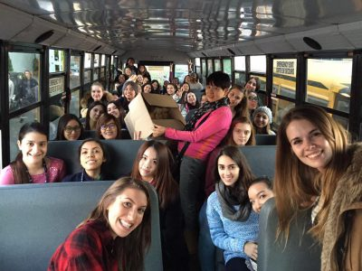 Bodwell Students on Bus