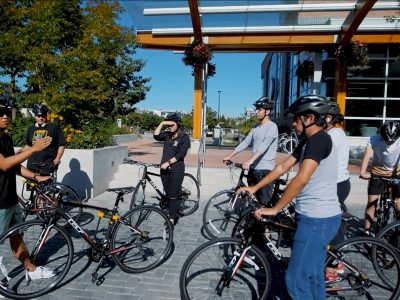 Biking safely in Vancouver, BC, at Bodwell High School.